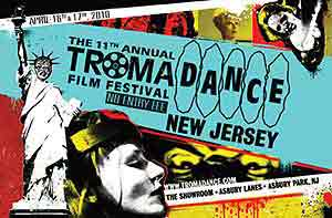 Film festival poster featuring the Toxic Avenger as the Statue of Liberty