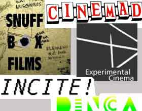 Collage of movie blog logos