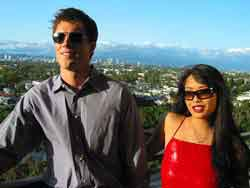 Los Angeles man and his pretty girlfriend