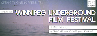 Postcard of the ocean for the Winnipeg Underground Film Festival